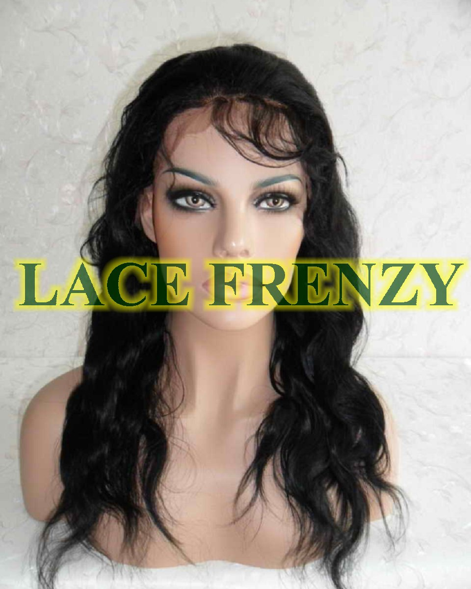 Keyshia - 18 Inches - Indian Remy Hair - Body Wave - Lace Front Wig