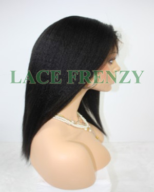 Monique- 12 Inches- Indian Remy Hair- High Yaki - Full Lace Wig