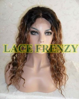 Athena - 16 Inches - Wavy- Two Toned - Indian Remy Hair Lace Front Wig