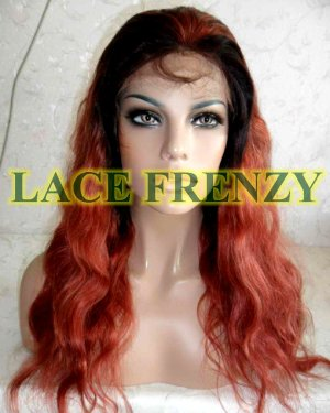 Joelle- 18 Inches - Indian Remy Hair - Wavy - Ombre - Lace Front Wig