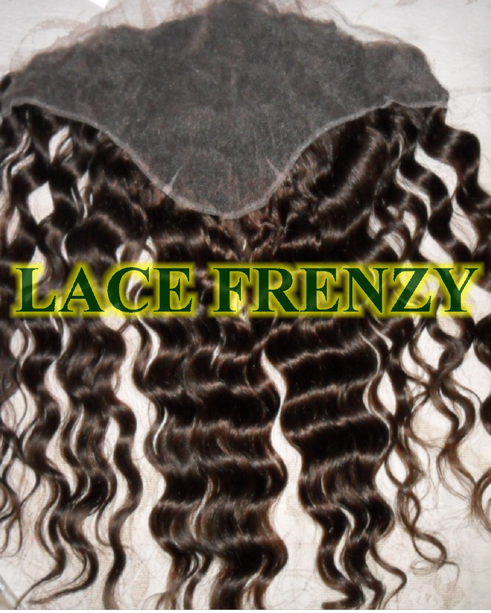 13x4 Inches- Deep Wave - Lace Frontal & 200G Machine Weft Bundle Kit