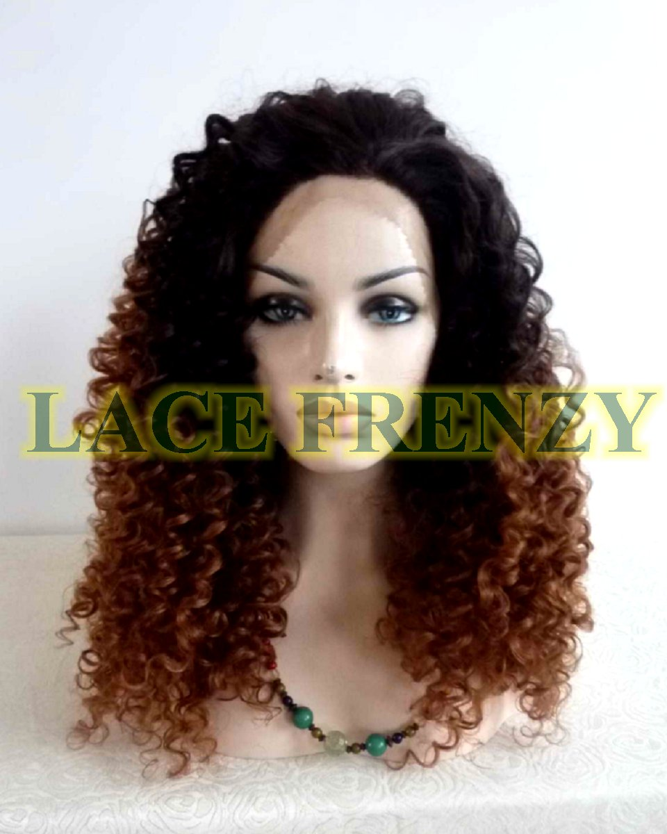 Faith - Afro Curly - Two Toned- Lace Front Wig