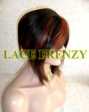 Jenn - 8 Inches - Soft Yaki - Indian Remy Hair - Bob Styled Lace Front Wig