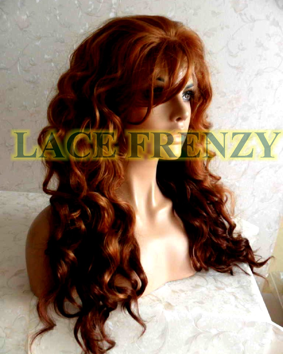 May - 20 Inches- Body Curl - Two Toned w/ Side Bang - Lace Front Wig