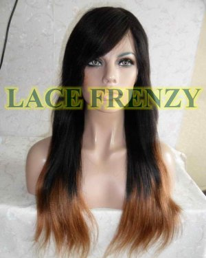 Tahari - TToned - Indian Remy Hair -Soft Yaki w/ Side Bang - Lace Front Wig