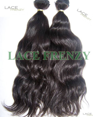 Indian Virgin Hair- Natural Wavey - 200G Machine Weft Bundle Kit