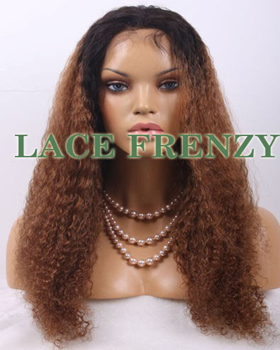 Sandra - Kinky Straight - Ombre Full Lace Wig