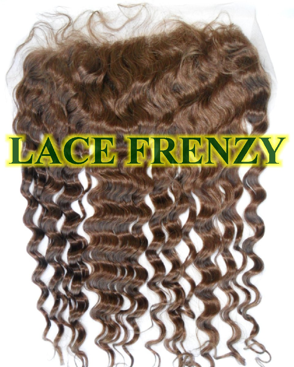 Deep wave 13x4 inches lace frontal