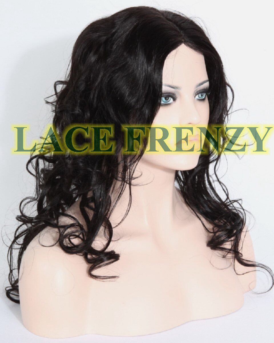 Brandy - 20 Inches - Indian Remy Hair - Big Curls - Silk Top Glueless Lace Wig