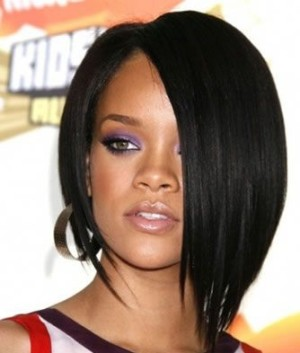 Rhianna - 10 Inches-Light Yaki - Celebrity Lace Front Wig- Replica