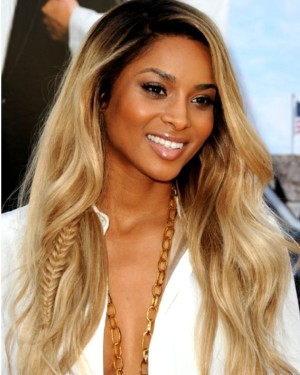 Custom celebrity Ciara two toned wig