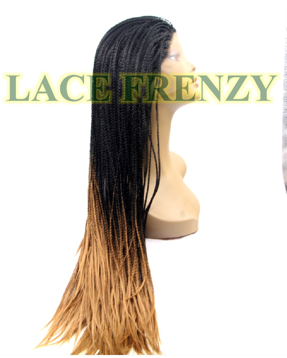 Tina - Ombre' Box Braid - Pre- Braided Lace Front Wig
