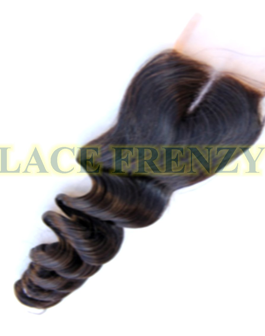 Grade 7A Virgin - Loose Wave - 4x4 Inches - Silk Base Top Closure
