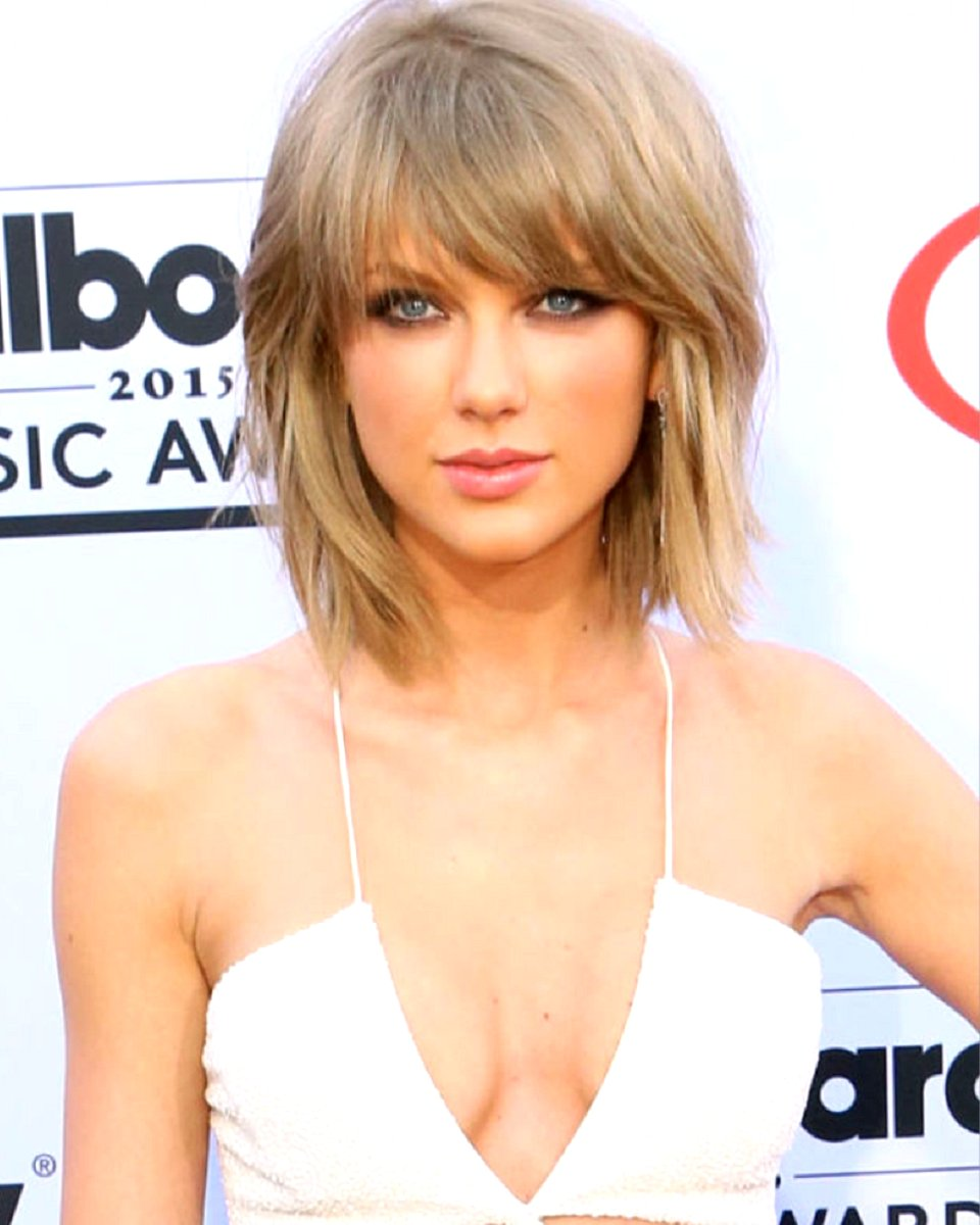 Taylor Swift Bob Cut W Bang Custom Celebrity Lace Wig