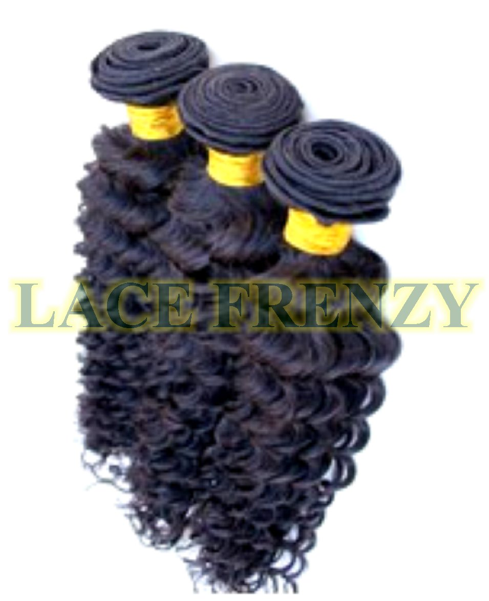 Grade 7A Virgin Human Hair - Deep Wave - Layered - Machine Weft Bundle Kit