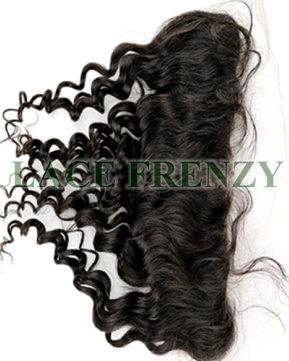 Virgin hair loose wave lace frontal