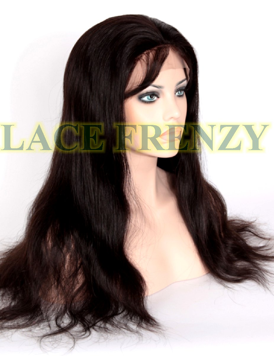 Natural straight silk top full lace wig