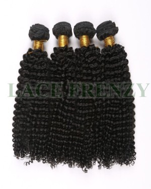 Grade 8A Peruvian virgin kinky curly machine weft hair extensions