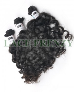 Grade 7A Virgin bouncy curls hair extension layered bundle Kit