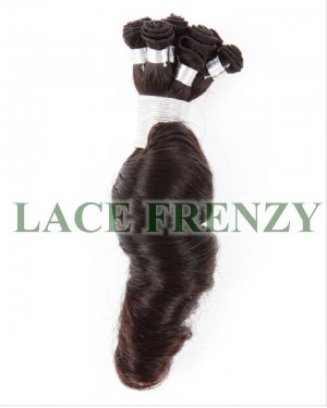 Loose Spiral Curls Brazilian Virgin Hair Handtied Wefts