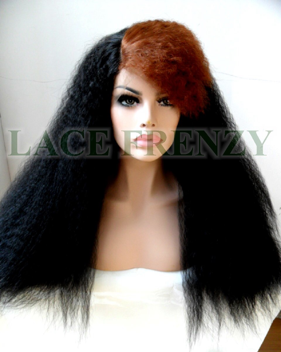 Kinky Straight Two Toned Lace Front Wig
