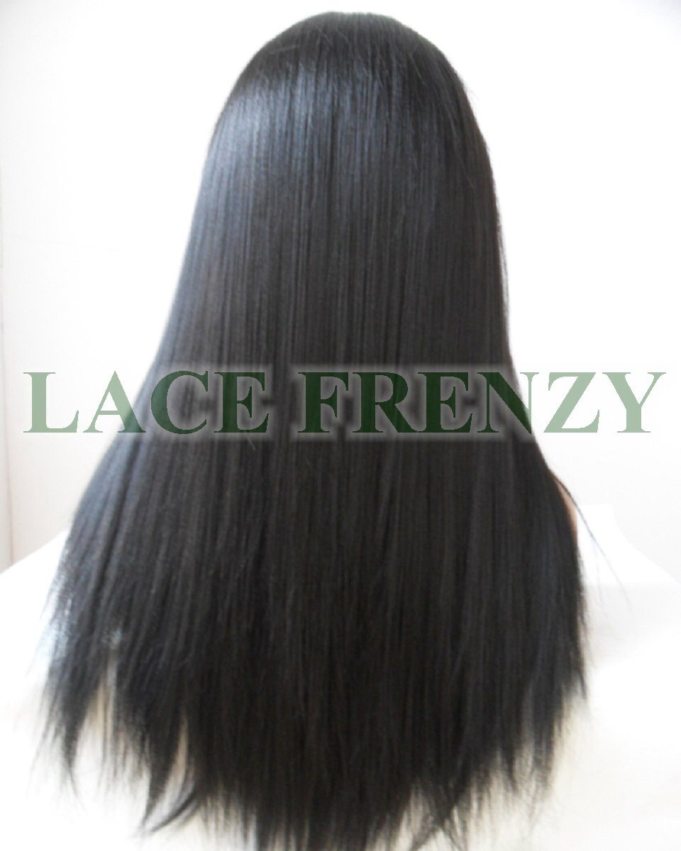 Black silky straight lace front wig