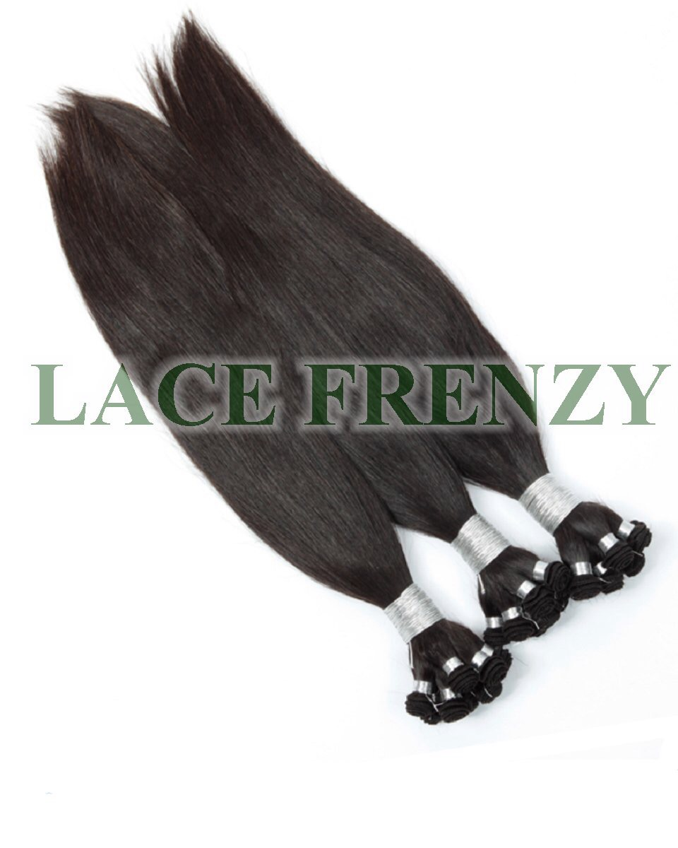 Brazilian Virgin Hair -Silky Straight - Hand Tied Wefts