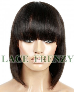 Chrissy - Short Bob Cut w/ Bang - Full Lace Wig