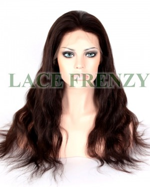 Castella - Natural Wave - 20 Inches - Indian Virgin Hair - Full Lace Wig