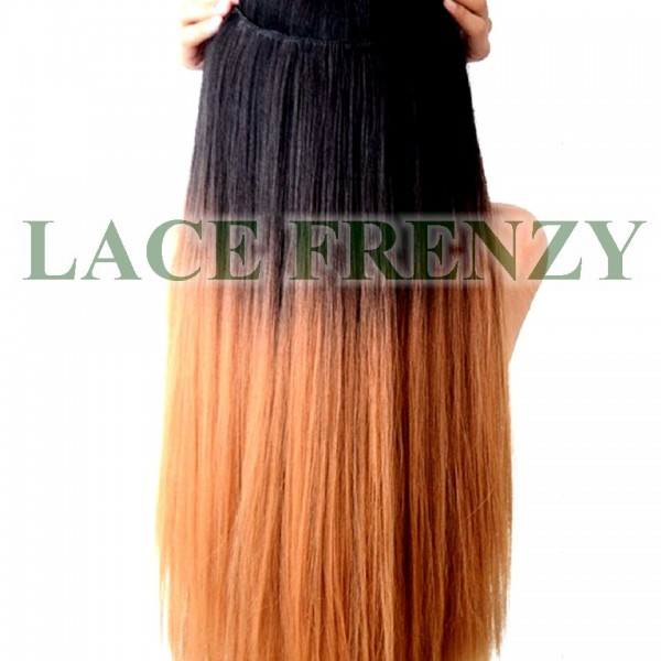 Custom ombre grade 8a virgin hair one piece clip in hair custom ombre grade 8a virgin hair one piece clip in hair extension pmusecretfo Images