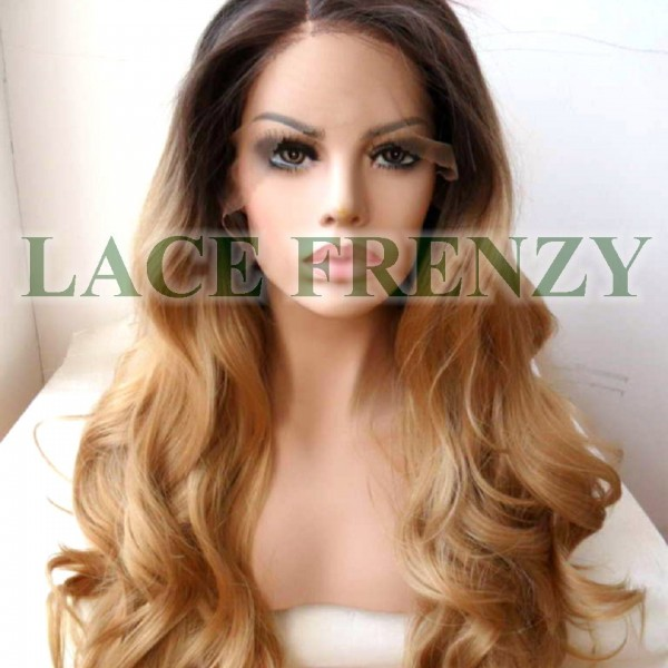 Yasmine Two Toned Body Curl Lace Front Wig Lace