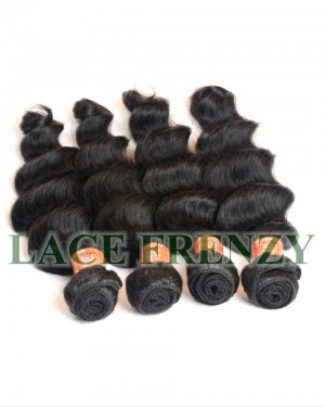 Wavy - Grade 8A Virgin Hair - 400G Layered - Machine Weft Bundle Kit