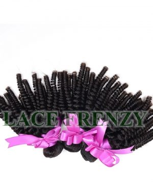 Peruvian Virgin Hair - Tight Curls - Layered - Machine Weft Bundle Kit