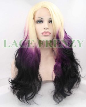 Amethyst- Sombre' - Loose Wave - Lace Front Wig