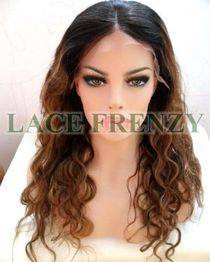Irena - 20 Inches - Indian Remy Hair Two Toned- Body Wave w/ Center-Part - Lace Front Wig