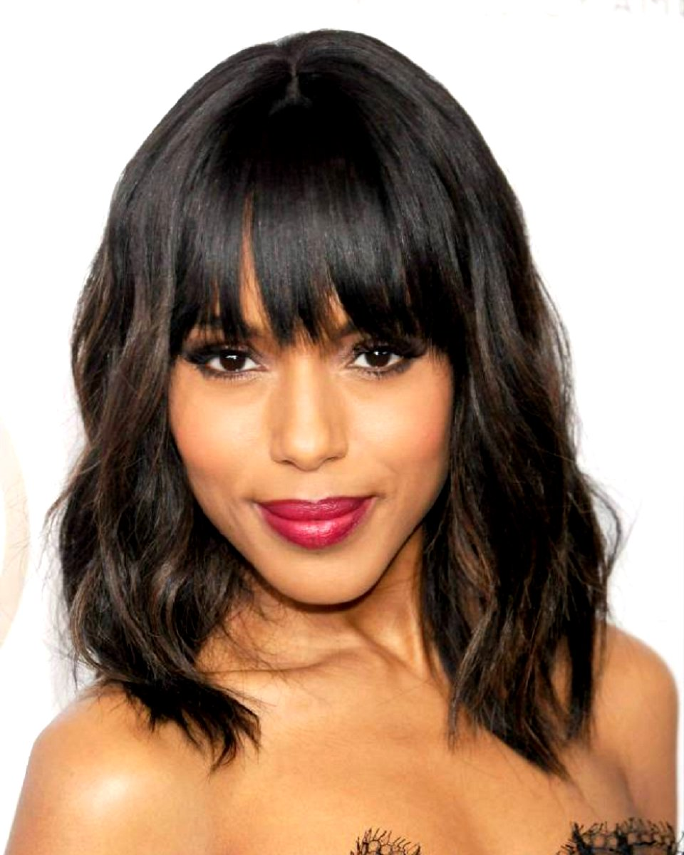 Kerry Washington - Bob w/ Hand-tied Bang - Custom Celebrity Lace Wig