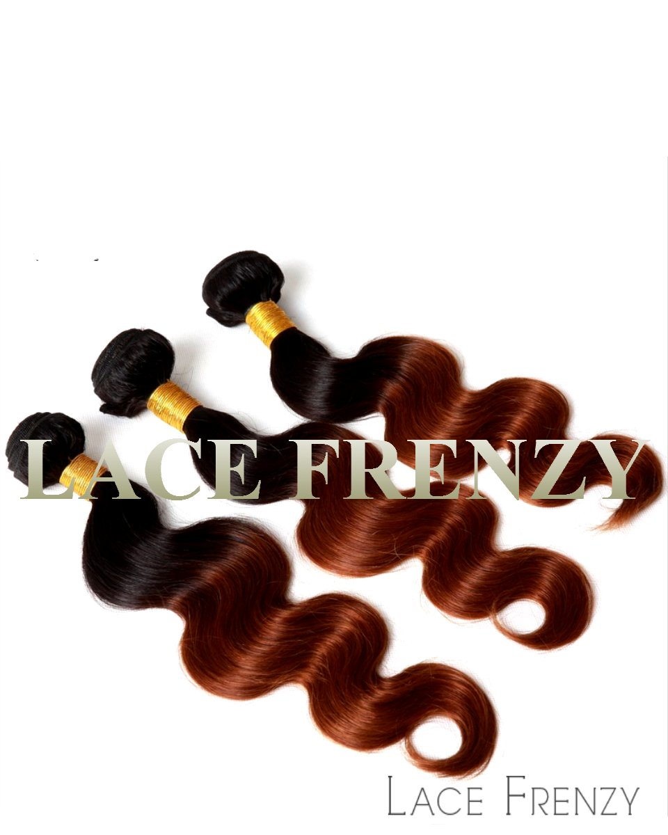 virgin human hair body wave ombre layered bundle hair | Lace Frenzy