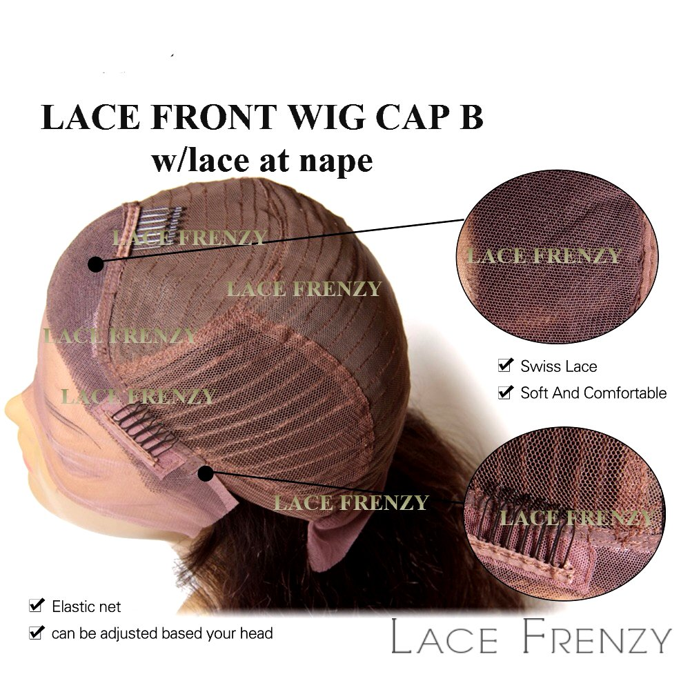 LACE FRENZY WIGS - LACE FRONT WIG B WITH LACE AT NAPE