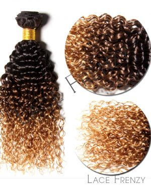 peruvian virgin hair ombre deep curly 200g machine weft bundle
