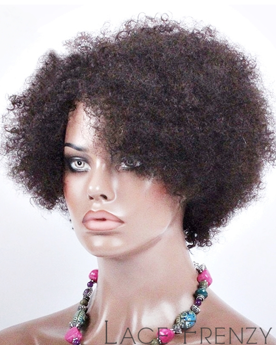 Georgette - Afro Curly - Indian Remy Hair - Machine Made Wig