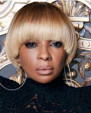 Mary J. Blige - Bob Styled- Custom Celebrity Lace Wig