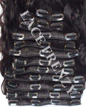 Virgin Human Hair - Wavy - 14 pcs Clip-In Hair Extension