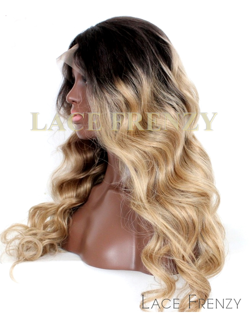 Janice - Wavy - Ombre' - Custom Silk Top Full Lace Wig