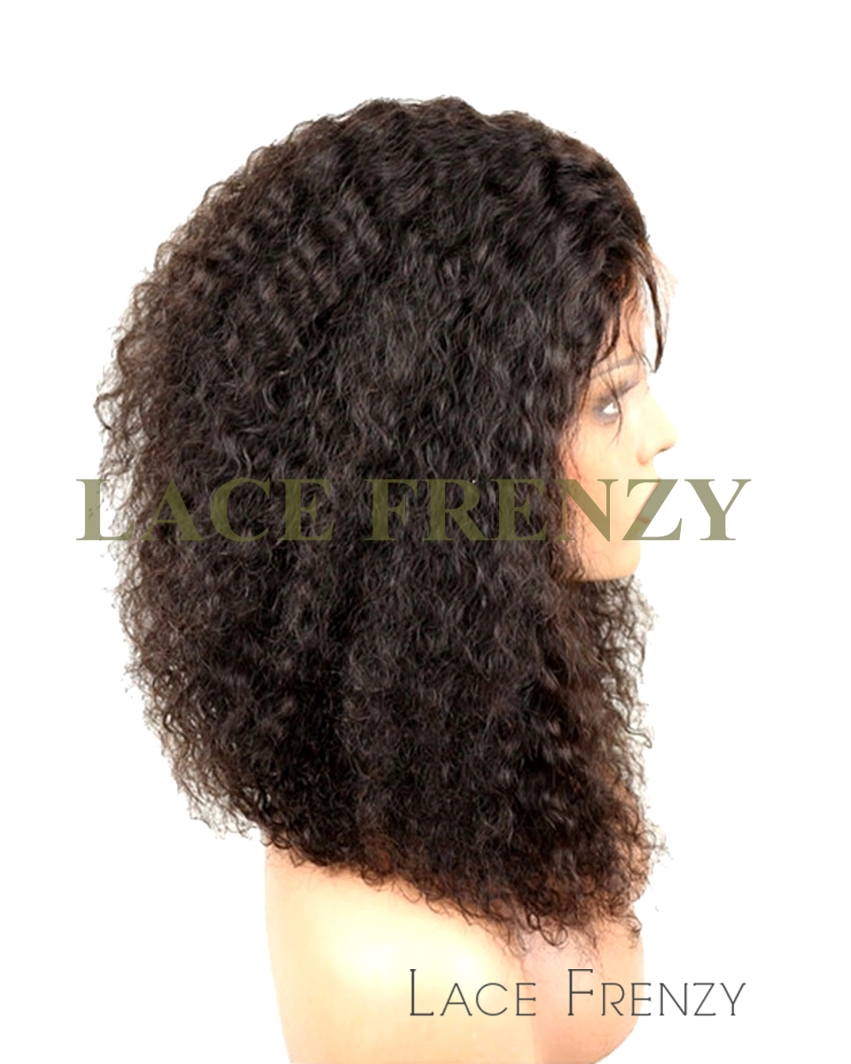 Jazzy - Kinky Wave - Peruvian Virgin Hair- Silk Top Full Lace Wig