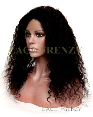 Indian Remy Human Hair - Natural Curly - 360 Lace Frontal