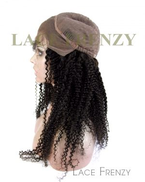 Deandrea -Afro Curly Virgin Human Hair- 300% Density Lace Front Wig