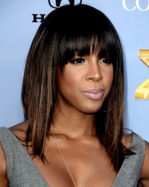 Kelly Rowland - Straight w/Handtied Bang - Custom Celebrity Lace Wig