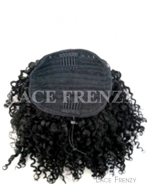 Virgin Human Hair - Afro Curly - Drawstring Ponytail