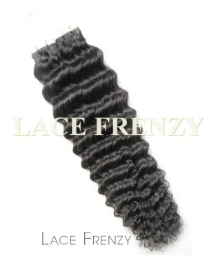 Virgin Human Hair - Deep Wave- 40Pcs -Tape Hair Extension