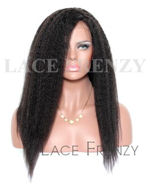 Fatima- Kinky Straight - Silk Top Full Lace Wig